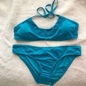 🆕 Laundry by design lace turquoise bikini